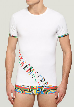 T-shirt in stretch cotton